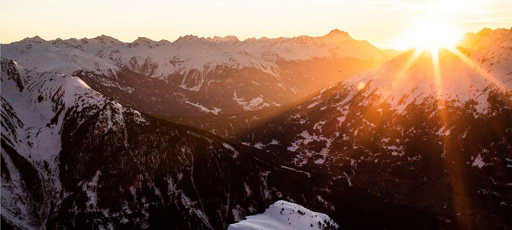 Innsbruck Freeride Experience Snowmads Group Sunset