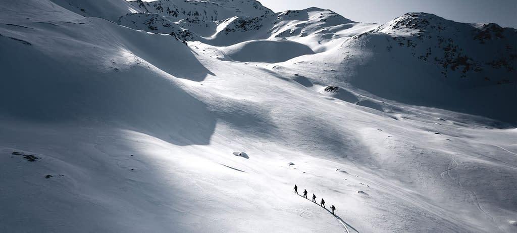 Innsbruck Freeride Experience Snowmads Group Skitouring Sunset